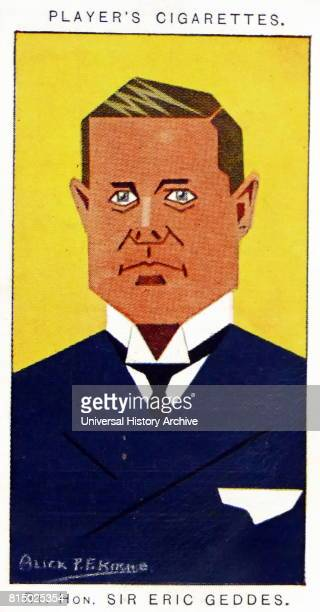 Player's cigarette card depicting Sir Eric Campbell Geddes was a British businessman and Conservative politician With a background in railways Dated...