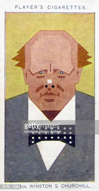 Player's cigarette card depicting Sir Winston Leonard SpencerChurchill was a British statesman who was the Prime Minister of the United Kingdom from...
