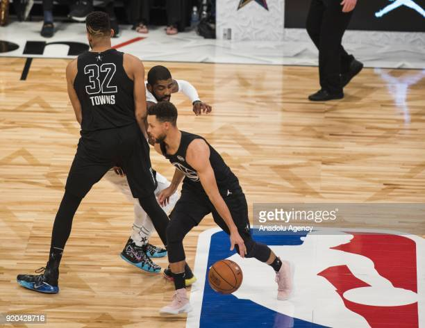 Players compete during the 2018 NBA AllStar Game at the Staples Center in Los Angeles California on February 18 2018