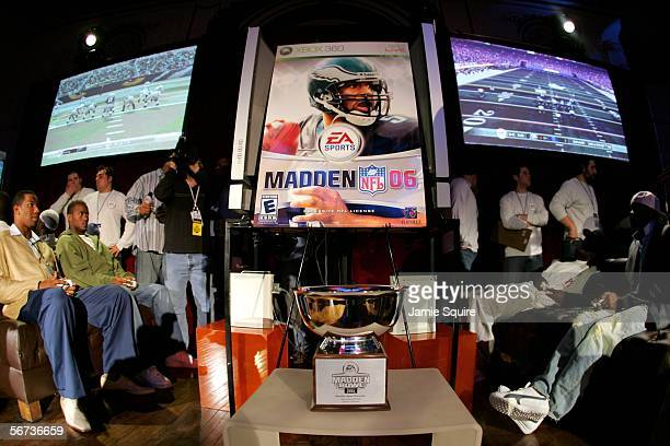 Players compete during the EA Sports Madden Bowl on February 2, 2006 at the Colony Club in Detroit, Michigan.