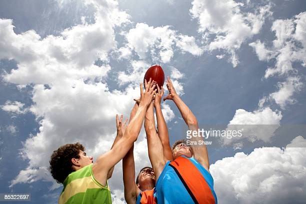 players competing for australian football - afl stock pictures, royalty-free photos & images