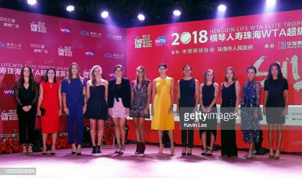 WTA players Daria Kasatkina of Russia Anastasija Sevastova of Lativa Aryna Sabalenka of Belarus Elise Mertens of Belgium Julia Goerges of Germany...
