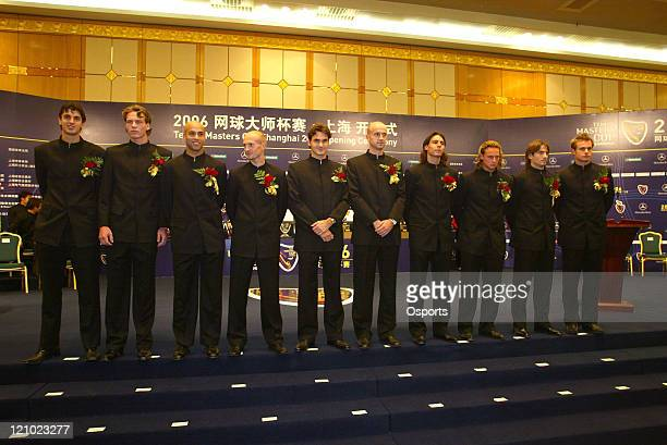 Players during a press conference prior to the 2006 Masters Tennis Cup Shanghai in Shanghai China on November 11 2006