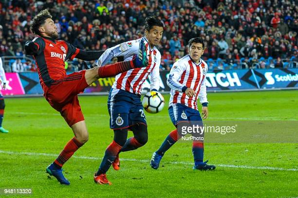 Players during the 2018 CONCACAF Champions League Final match between Toronto FC and CD Chivas Guadalajara at BMO Field in Toronto Canada on April 17...