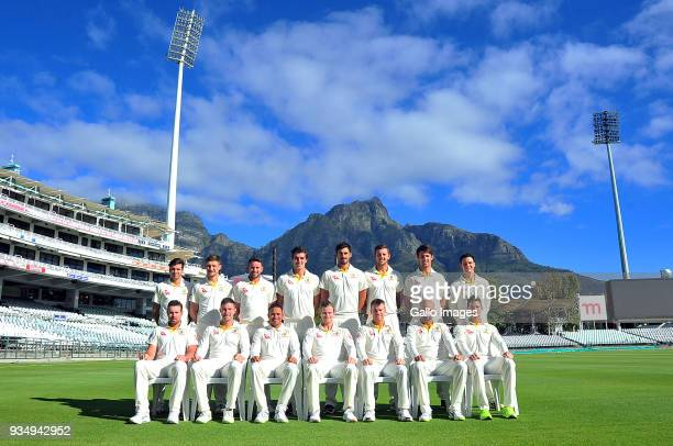 Players during the Australian national mens cricket team photo and training session at PPC Newlands Stadium on March 20 2018 in Cape Town South Africa