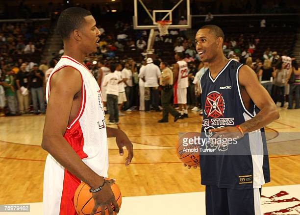 Players during the LA stars celebrity all star charity weekend celebrity and NBA all star game at USC Galen Center on August 5, 2007 in Los Angeles,...
