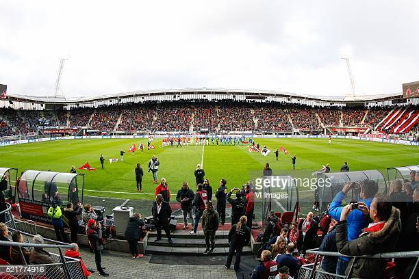 players entering the field during the Dutch Eredivisie match between AZ and PEC Zwolle at the AFAS stadium on april 16 2016 in Alkmaar the Netherlands