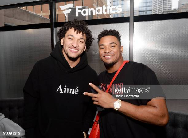 NFL players Evan Engram and Jamal Adams at the Fanatics Super Bowl Party on February 3 2018 in Minneapolis Minnesota