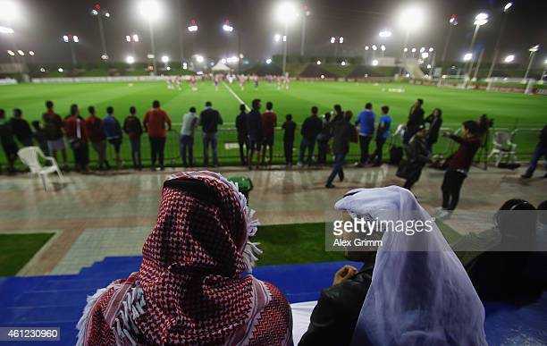 Players exercise during day 1 of the Bayern Muenchen training camp at ASPIRE Academy for Sports Excellence on January 9 2015 in Doha Qatar