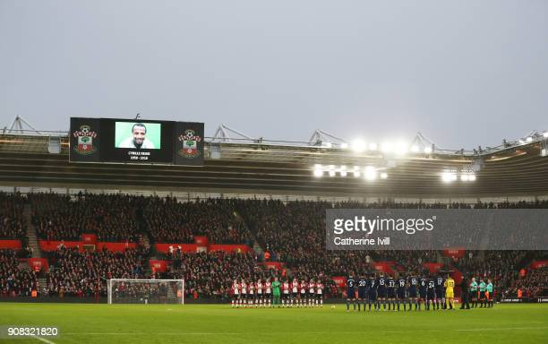 Players fans and officials remember exfootballer Cyrille Regis who passed away earlier this week prior to the Premier League match between...
