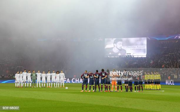 Players fans and officials remember Italy international Davide Astori who passed away earlier in the week prior to the UEFA Champions League Round of...