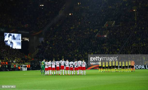 Players fans and officials remember Italy international Davide Astori who passed away earlier in the week prior to the UEFA Europa League Round of 16...