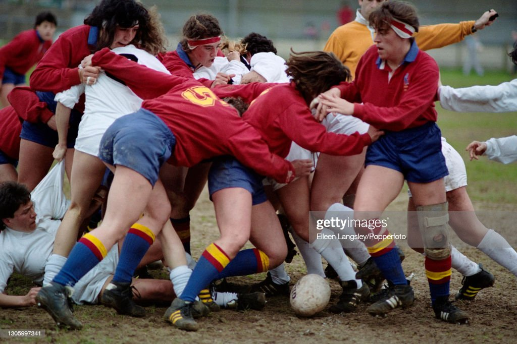 Italy v Spain In 1991 Women's Rugby World Cup : ニュース写真