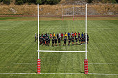 wellington new zealand players form huddle