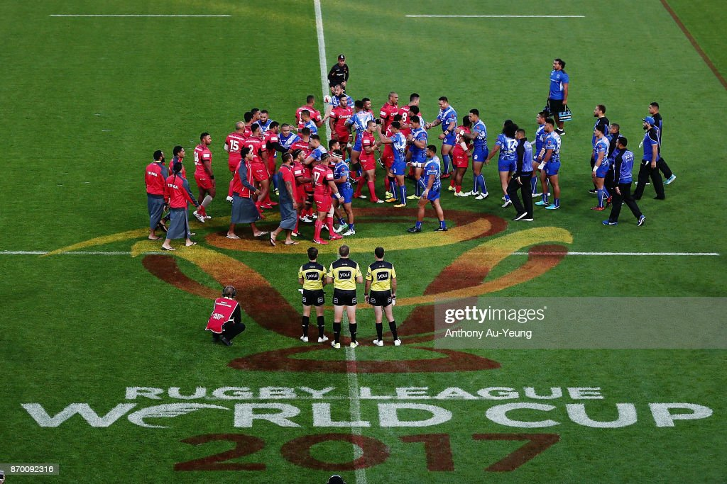 Samoa v Tonga - 2017 Rugby League World Cup : News Photo