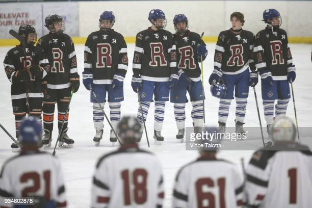 Players from both teams DonMills Flyers and Toronto Marlboro's changed into different jerseys that had the letter 'R' in remembrance of Roy...
