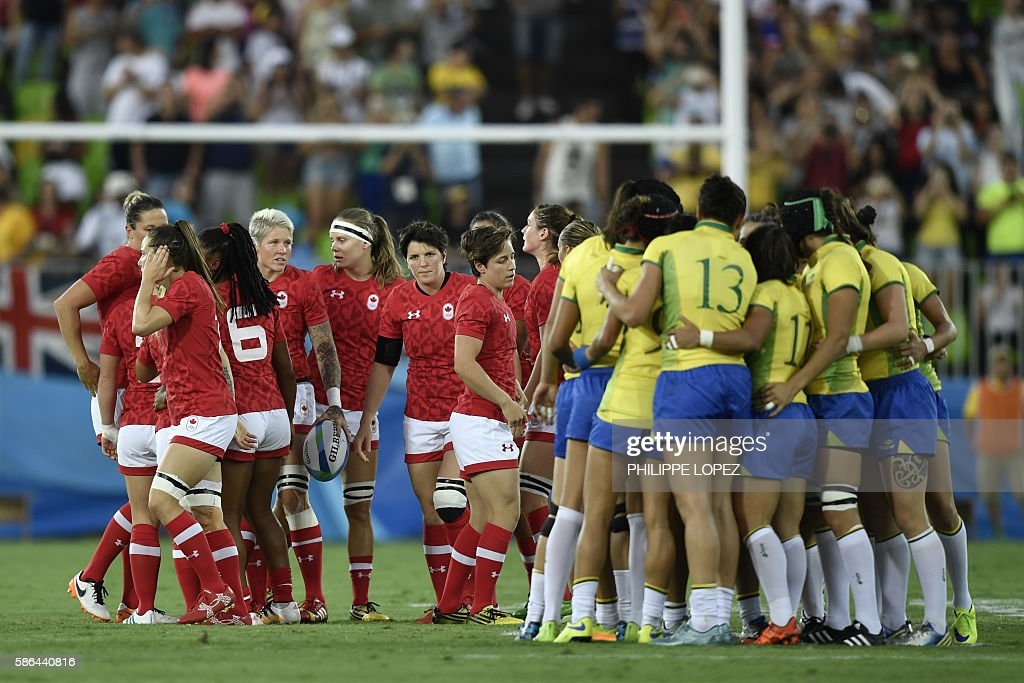 RUGBY7-OLY-2016-RIO-CAN-BRA : News Photo