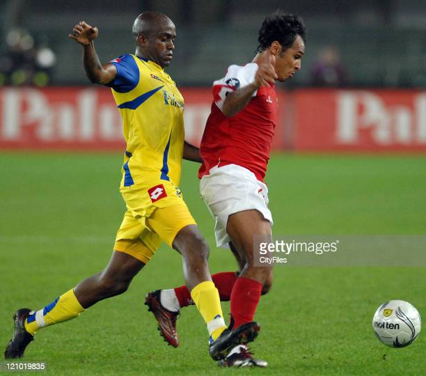Players from Chievo and Braga during the UEFA Cup first round second leg match between Braga and Chievo Verona in Verona Italy on September 28 2006