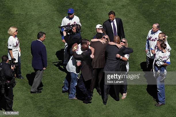 Players from the 1986 World Champion New York Mets including Tim Teufel Bob Ojeda Darryl Strawberry Keith Hernandez Mookie Wilson and Ron Darling...