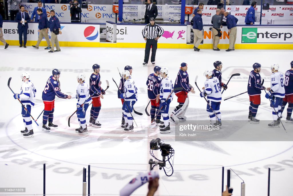 Tampa Bay Lightning v Columbus Blue Jackets - Game Four : News Photo