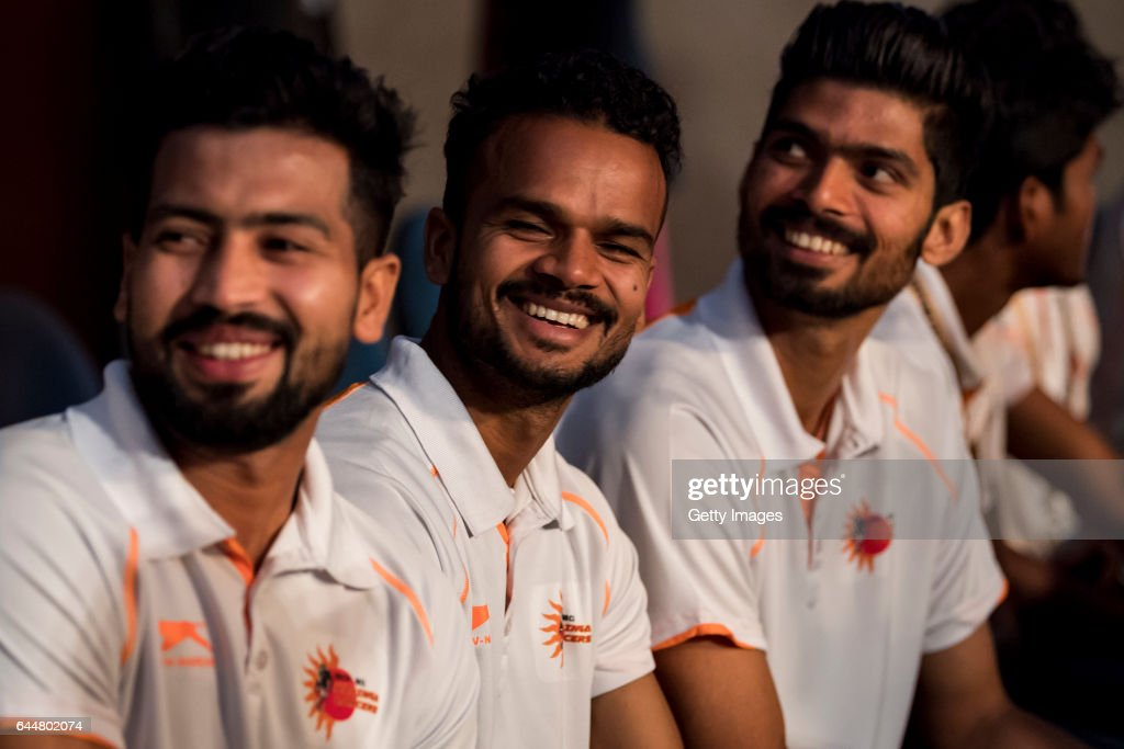 Players from the Lalinga Lancer team seen during the FIH Hockey Stars Awards 2016 at Lalit Hotel on February 23 2017 in Chandigarh India