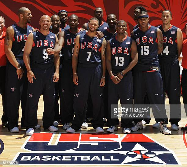 Players from the US Olympic basketball team Carlos Boozer, Jason Kidd, Michael Redd, LeBron James, Dwyane Wade, Deron Willimas, Dwight Howard, Kobe...