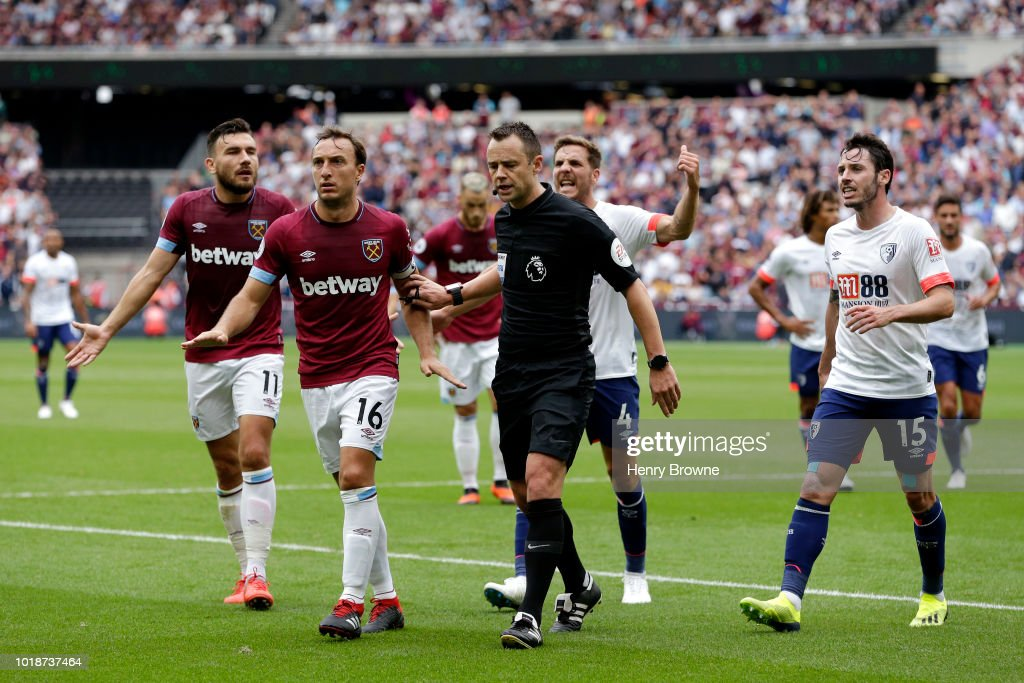 West Ham United v AFC Bournemouth - Premier League : News Photo