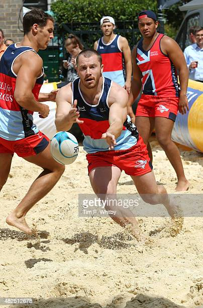 Players In Action At London Beach Rugby 2016 A Two Day Touch Event Aid