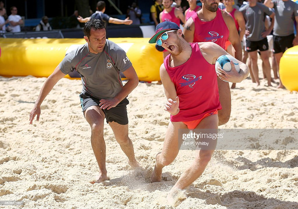 Players In Action At London Beach Rugby 2016 A Two Day Touch Event