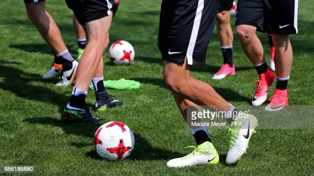 Players in action during a New Zealand training session at Cheonan Football Centre on May 21 2017 in Cheonan South Korea
