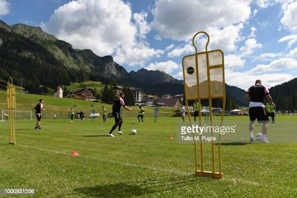 Andrea Rispoli in action during a training session at the US Citta' di Palermo training camp on July 17 2018 in Belluno Italy