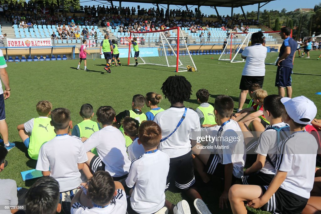 Players in action during the Italian Football Federation during 9th Grassroots Festival at Coverciano on June 18, 2017 in Florence, Italy.