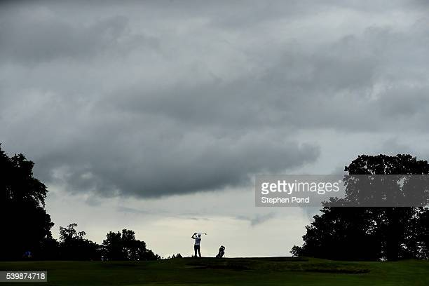 Players in action during the PGA Fourball Qualifier at Bush Hill Park Golf Club on June 13 2016 in Enfield England