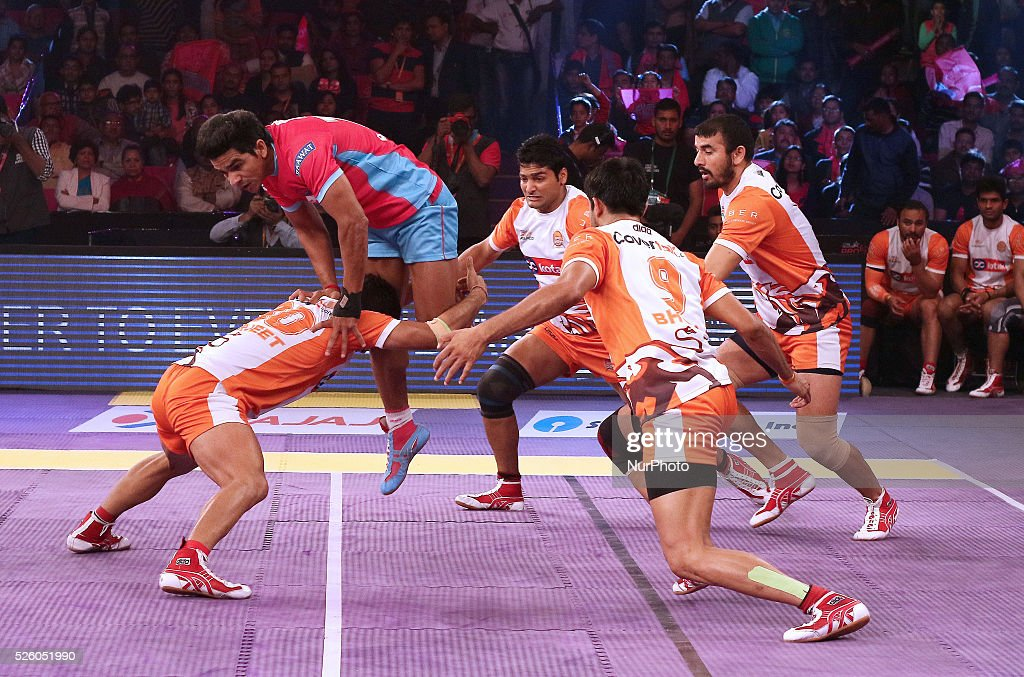 Pro Kabaddi League Matches in Jaipur, India : News Photo