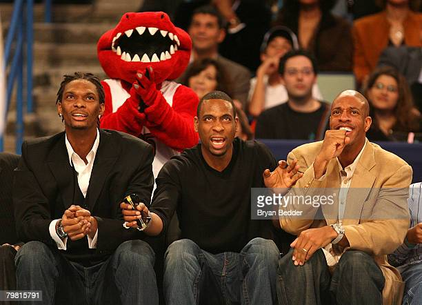 NBA players Jerome Williams Chris Bosh Rasual Butler and during NBA AllStar Saturday Night part of 2008 NBA AllStar Weekend at the New Orleans Arena...
