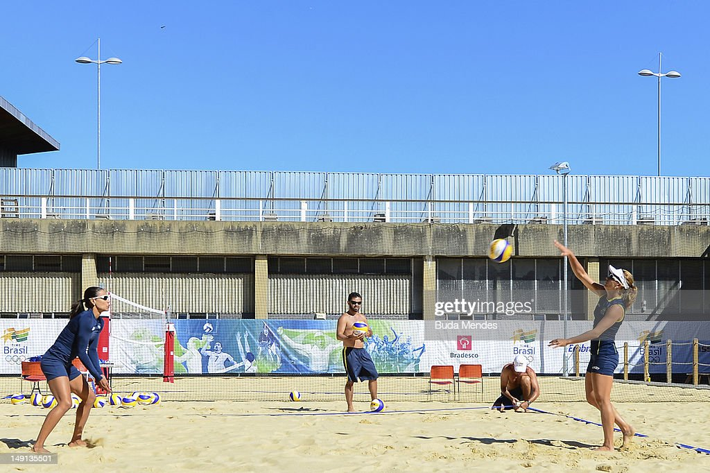 Brazilian Olympic Beach Volleyball Team - Training Session
