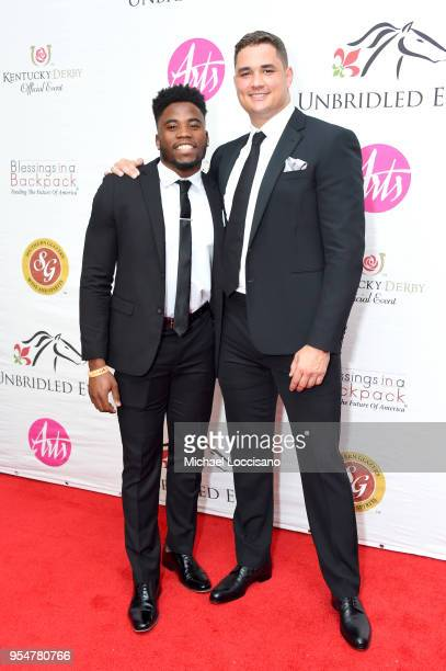 Players Kenny Moore Jr and James O'Shaughnessy attend the Unbridled Eve Gala during the 144th Kentucky Derby at Galt House Hotel Suites on May 4 2018...
