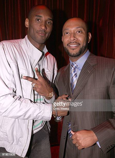 NBA players Kobe Bryant and Julius Grant attend LAX Nightclub on October 14 2009 in Las Vegas NV