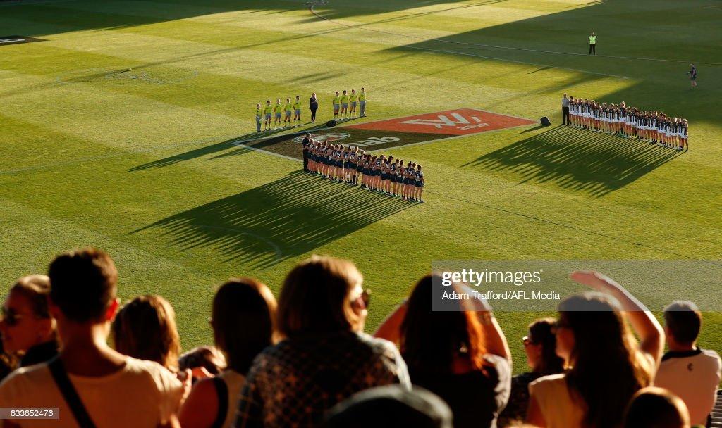 AFL Women's Rd 1 - Collingwood v Carlton : News Photo
