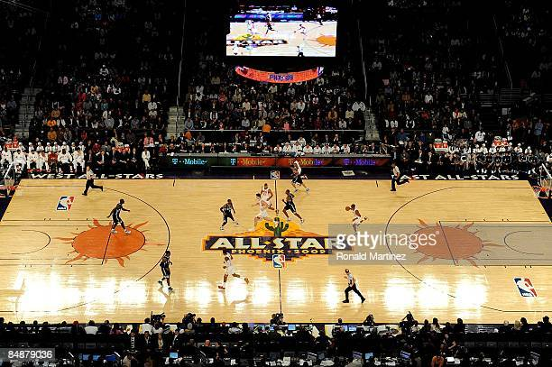 Players move across the court during the 58th NBA AllStar Game part of 2009 NBA AllStar Weekend at US Airways Center on February 15 2009 in Phoenix...