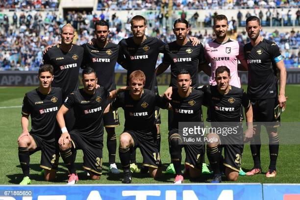 players oa Palermo pose for a team shot during the Serie A match between SS Lazio and US Citta di Palermo at Stadio Olimpico on April 23 2017 in Rome...