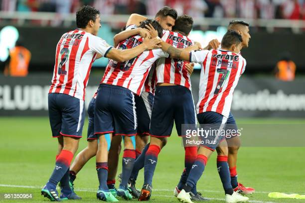 Players od Chivas of celebrate after winning the second leg match of the final between Chivas and Toronto FC as part of CONCACAF Champions League...