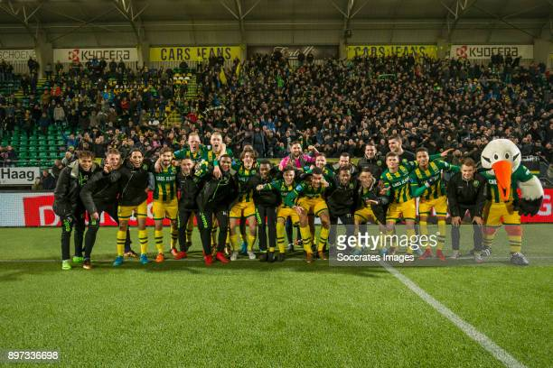 Players of ADO Den Haag celebrates the victory during the Dutch Eredivisie match between ADO Den Haag v PEC Zwolle at the Cars Jeans Stadium on...