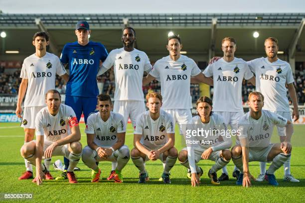 Players of AIK before the Allsvenskan match between BK Hacken and AIK at Bravida Arena on September 24 2017 in Gothenburg Sweden