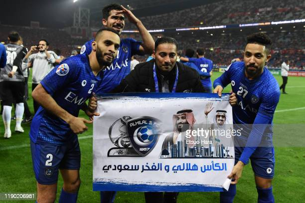 Players of Al Hilal celebrate the victory after the AFC Champions League Final second leg match between Urawa Red Diamonds and Al Hilal at Saitama...