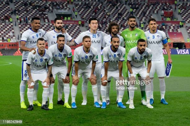 Players of Al Hilal pose for the team photo before of the FIFA Club World Cup third place play off against Monterrey at Khalifa International Stadium...