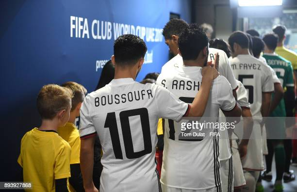 Players of Al Jazira prior leaving the tunnel during the FIFA Club World Cup UAE 2017 third place match between Al Jazira and CF Pachuca at Zayed...