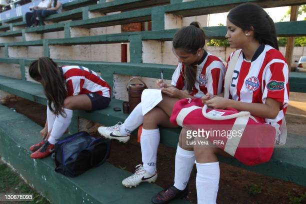 Players of American School Of Asuncion during the FIFA Women's Football Initiative on October 27 2011 in Asuncion Paraguay