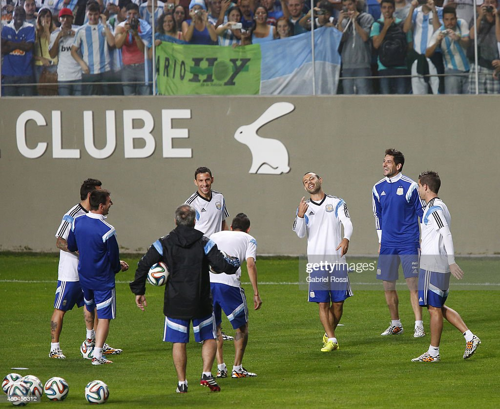 Argentina Training Session - 2014 FIFA World Cup Brazil : News Photo
