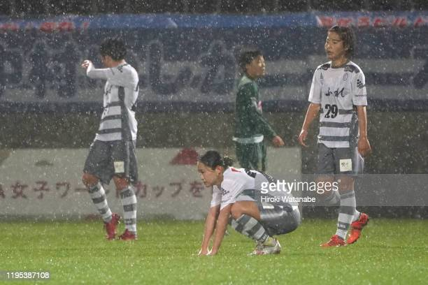 Players of AS Elfen Saitama shows dejection after the Empress Cup 41st JFA Women's Championship Semi Final between NTV Beleza and Chifure AS Elfen...